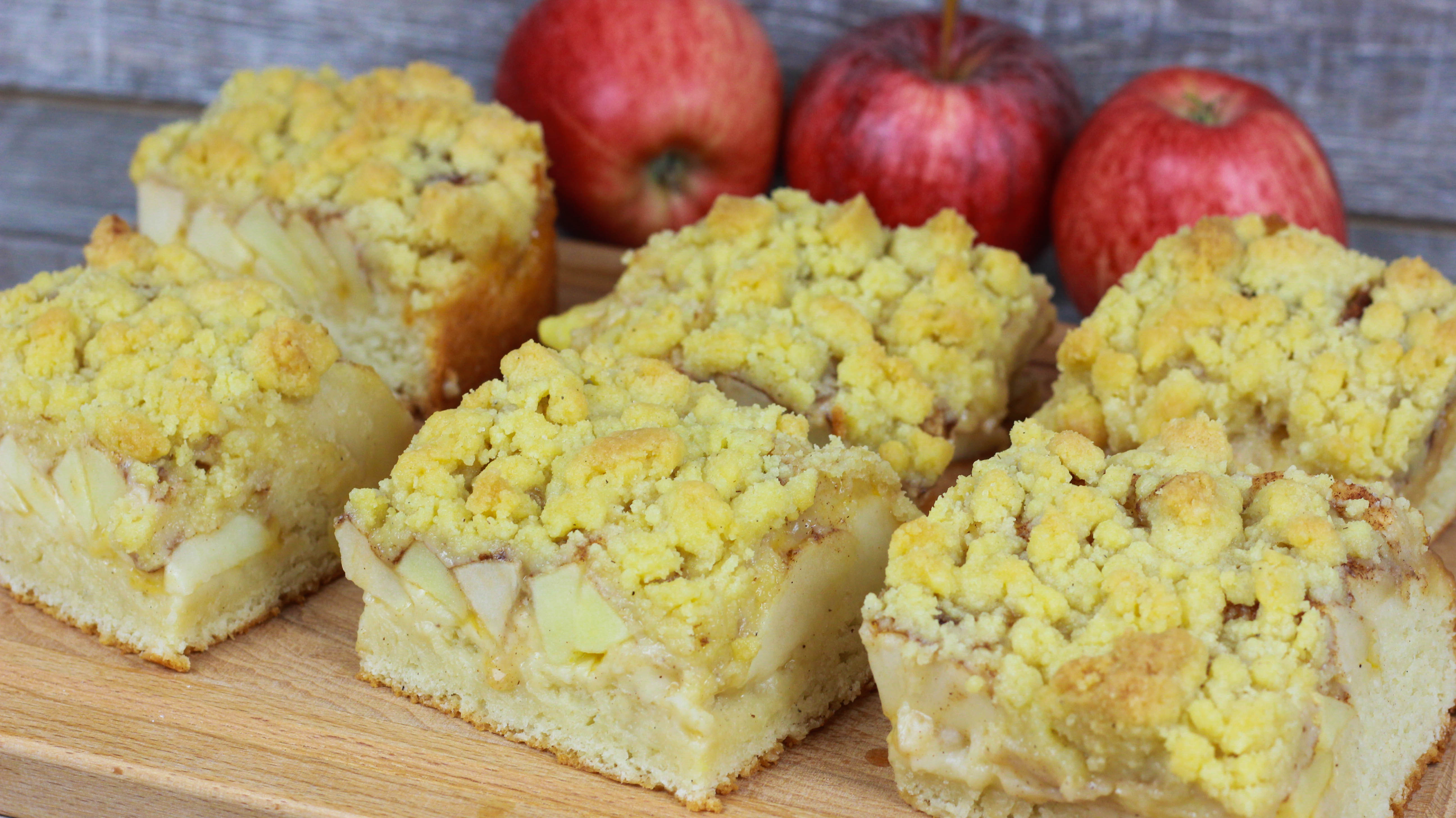 Saftiger Apfel Streuselkuchen Mit Quark Ol Teig Cook Bakery
