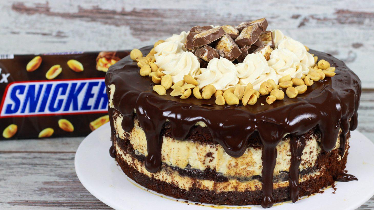 snickers kuchen torte