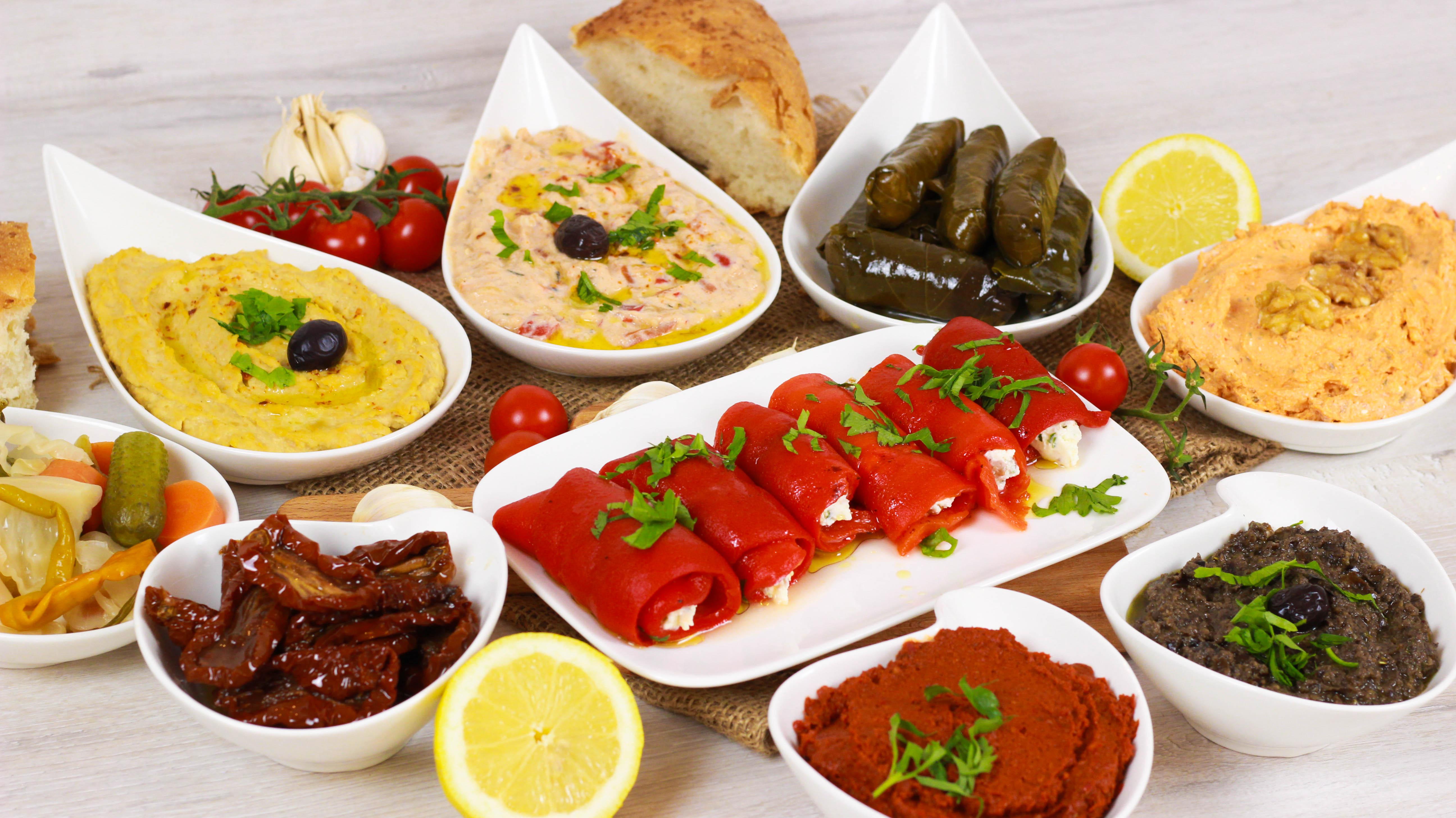 Türkische Vorspeisen – Dips / Meze - Cook Bakery