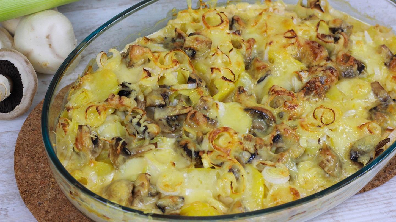 kartoffelauflauf mit champignons kartoffel champignon auflauf cook bakery. Black Bedroom Furniture Sets. Home Design Ideas